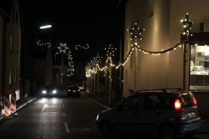 Weihnachtsbeleuchtung in Estenfeld